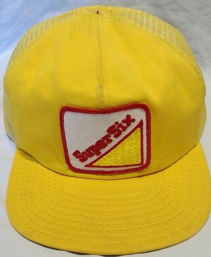 a12a074a26c  6.96 or best offer Super Six Patch Cap Trucker Hat Mesh Snapback  supersix   TruckerHat  cap