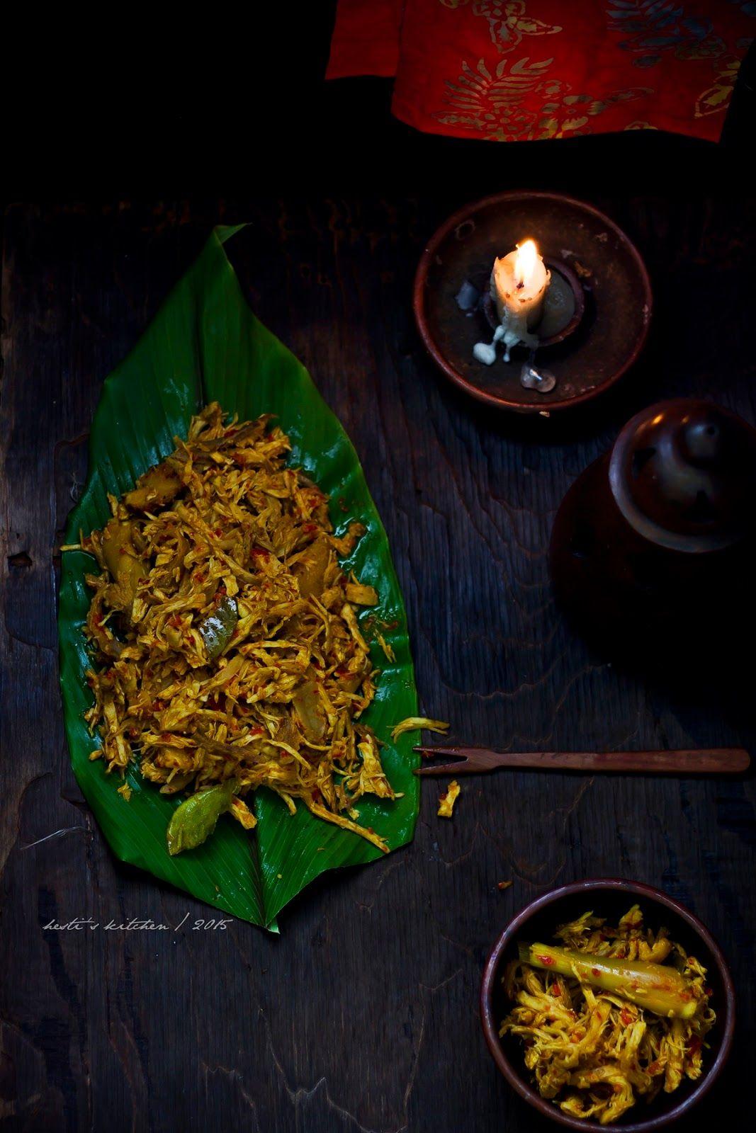 Hesti S Kitchen Yummy For Your Tummy Ayam Suwir Pedas Ala Bali Resep Ayam Suwir Resep Ayam Makanan