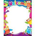 Trend Enterprises Inc. T-38451 Welcome Owl Stars Learning Chart