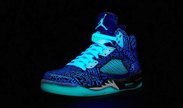 Blue-glow-in-the-dark Jordans Nike Sneakers 169ff9851