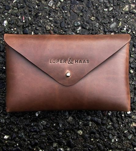 Envelope Leather Clutch by Loper and Haas on Scoutmob Shoppe