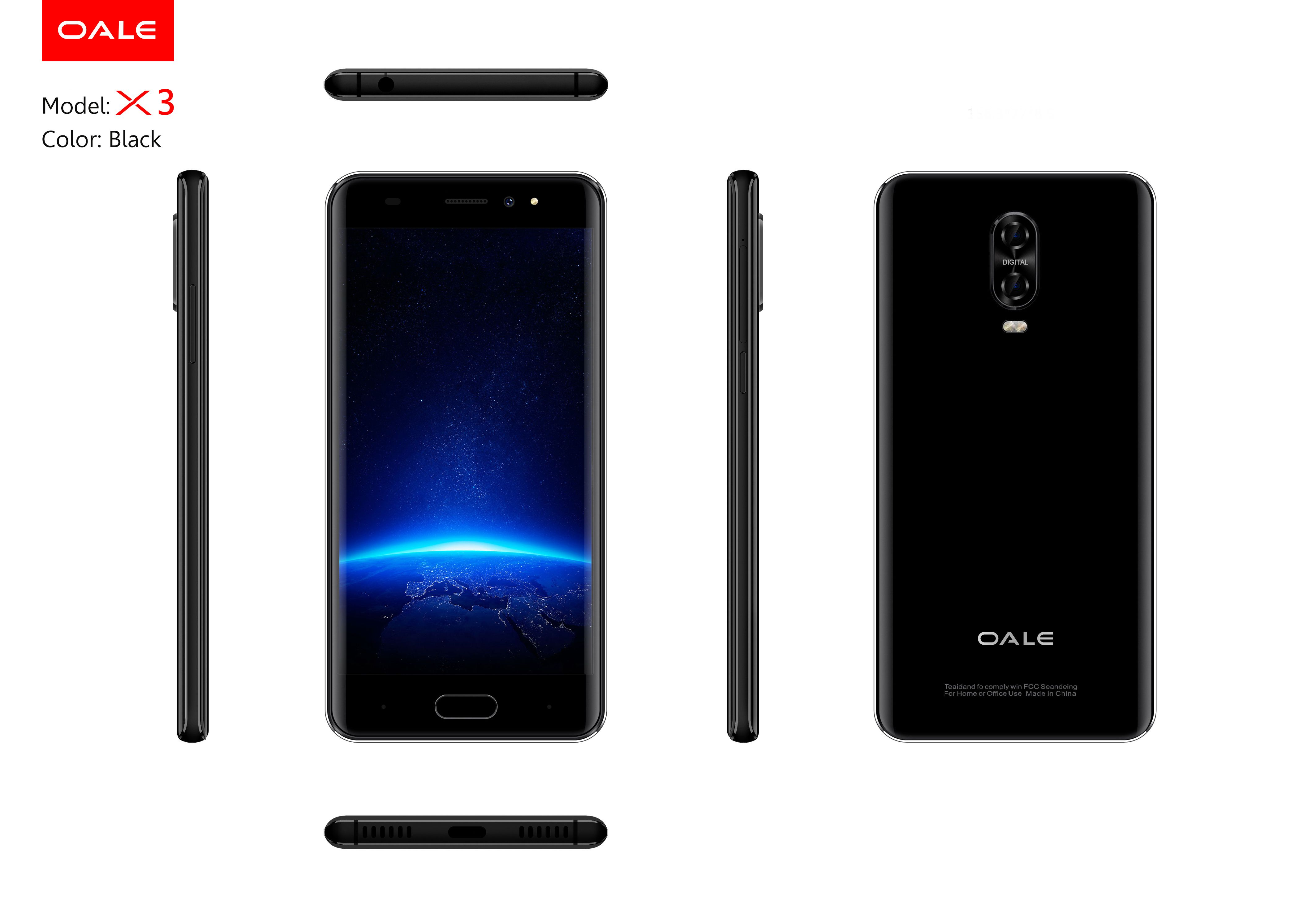 Oale X3, Black Color
