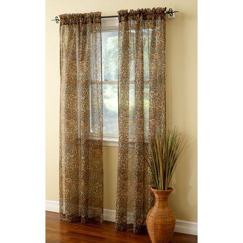 Sheer Leopard Curtain