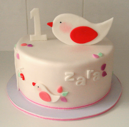 Simple first birthday cake Catherines Cakes Perth Kids Cakes