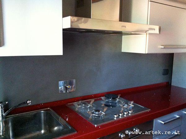 Resina su parete cucina | case pareti, divisori, porte interne ...