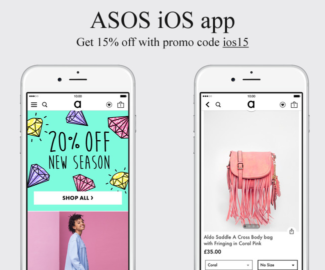 Time To Try Asos Mobile On Ios You Will Get 15 Off With