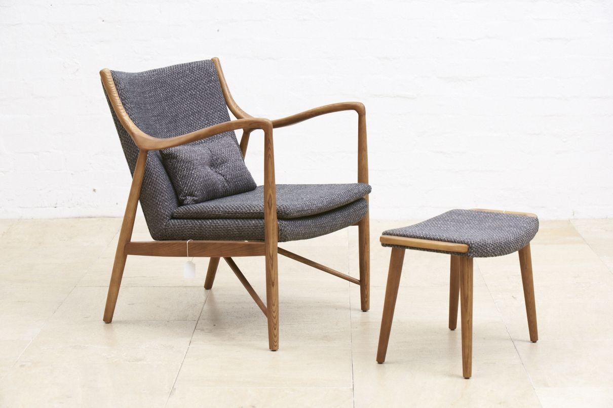 Replica midcentury furniture - Juno armchair and foot stool from Schots