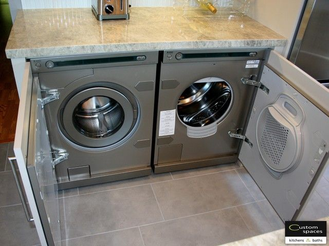 Hiding washer and dryer in kitchen google search 407 for Kitchen cabinet washing machine