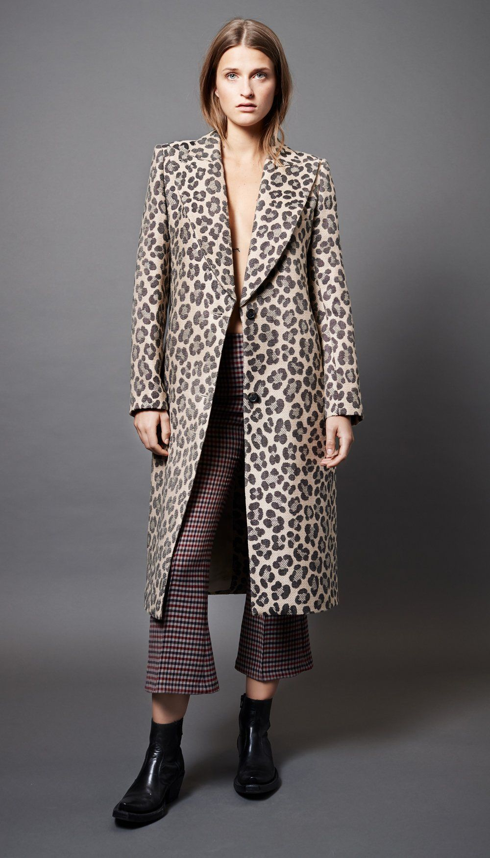 81eedd58bb7d Smythe - Peaked Lapel Coat | Clothing in 2019 | Leopard coat, Coat ...