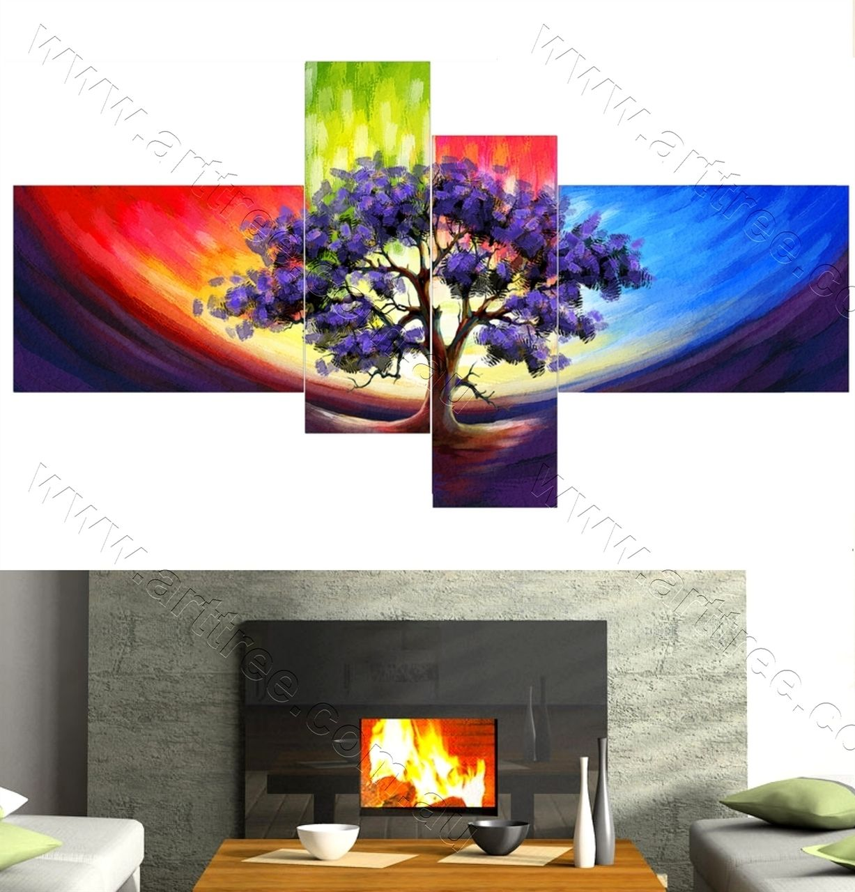 Purple Leaves Tree 4 piece print set · Large Canvas PrintsWall Art OnlinePurple ...  sc 1 st  Pinterest & Purple Leaves Tree 4 piece print set | 4 Piece Canvas Prints ...