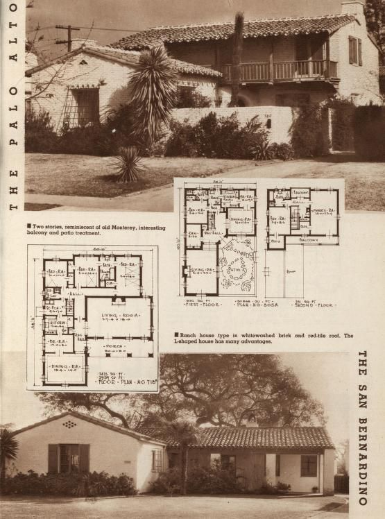 Better Homes 62 Homes With Plans Cleveland Publications Inc Free Download Borrow And Streaming Internet Archive Spanish Style Homes Vintage House Plans Spanish Colonial Homes