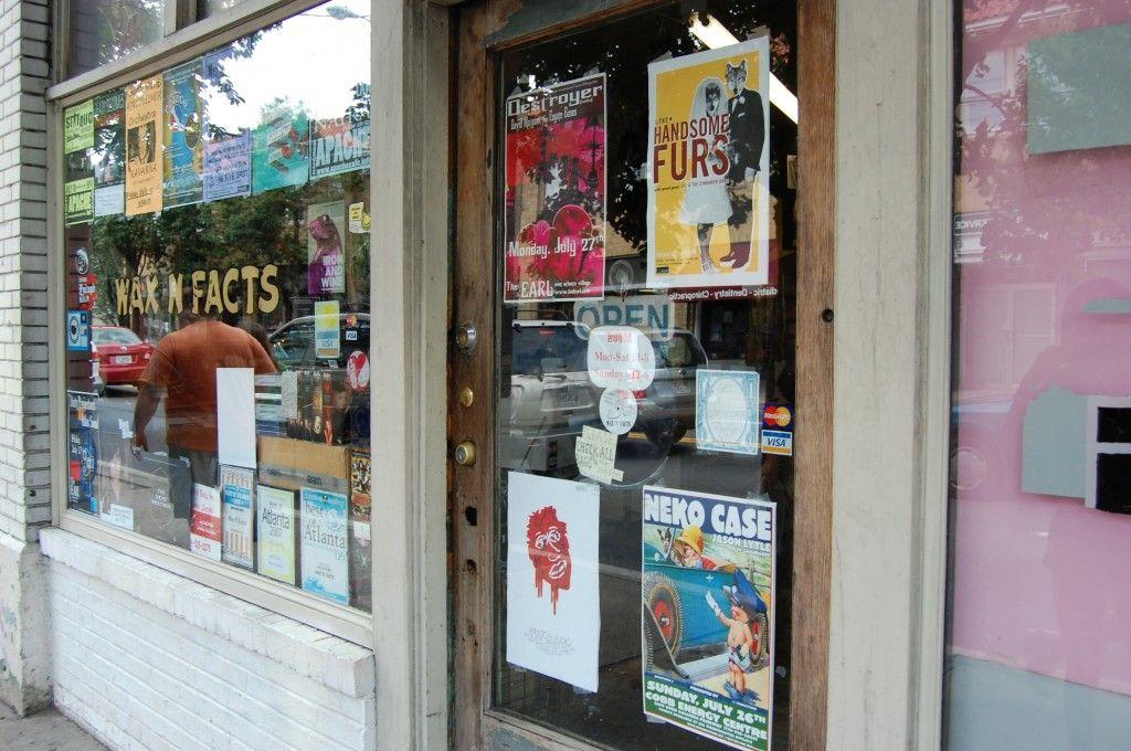 Wax N Facts, Atlanta GA Shop signage, Record shop, Vinyl