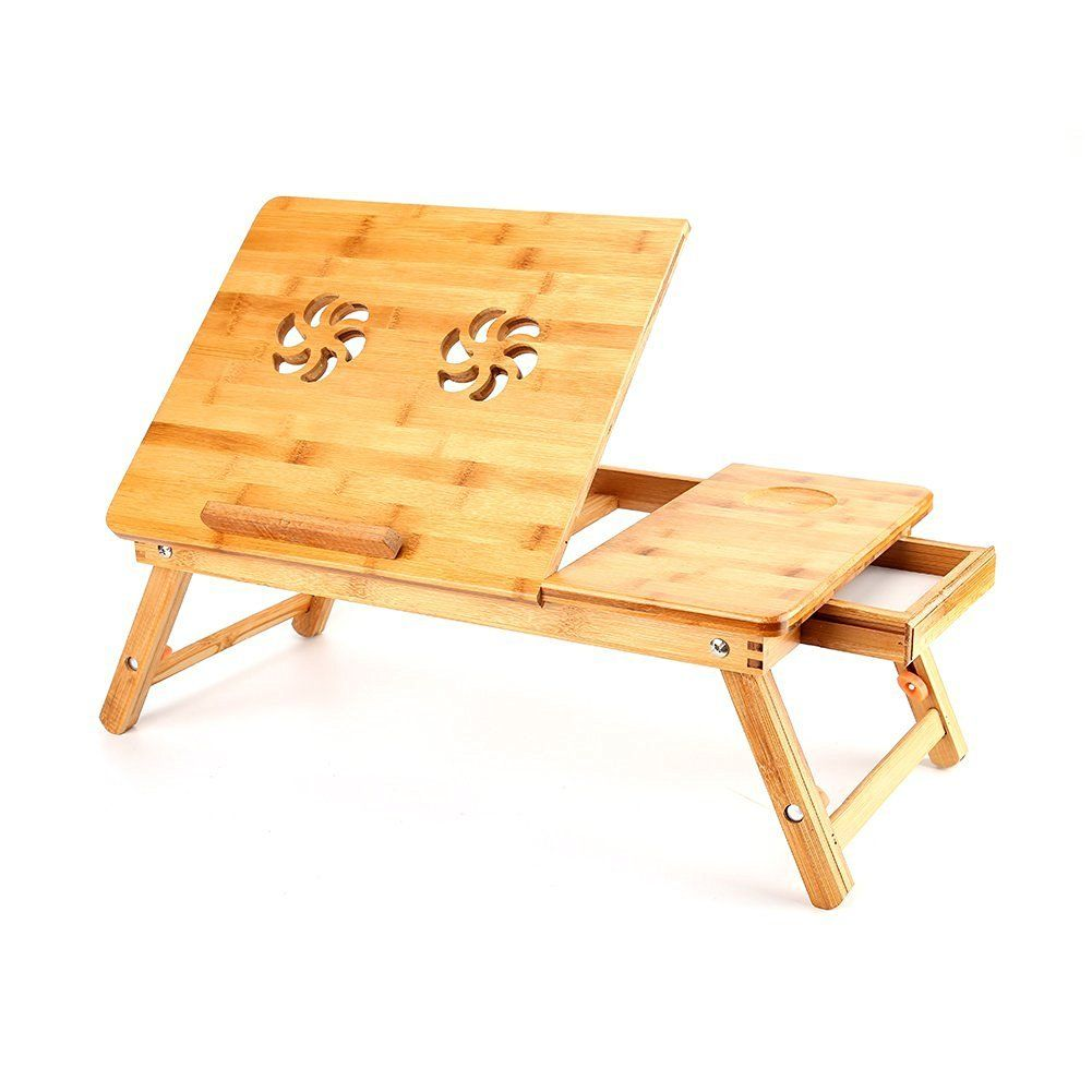 Folding Computer Desk Portable Wooden Laptop Desk Computer Stand  # Muebles Sixbros