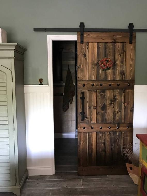 Photo of Interior Sliding Barn Door – Farmhouse style – Custom sizes welcome – Door only or with hardware