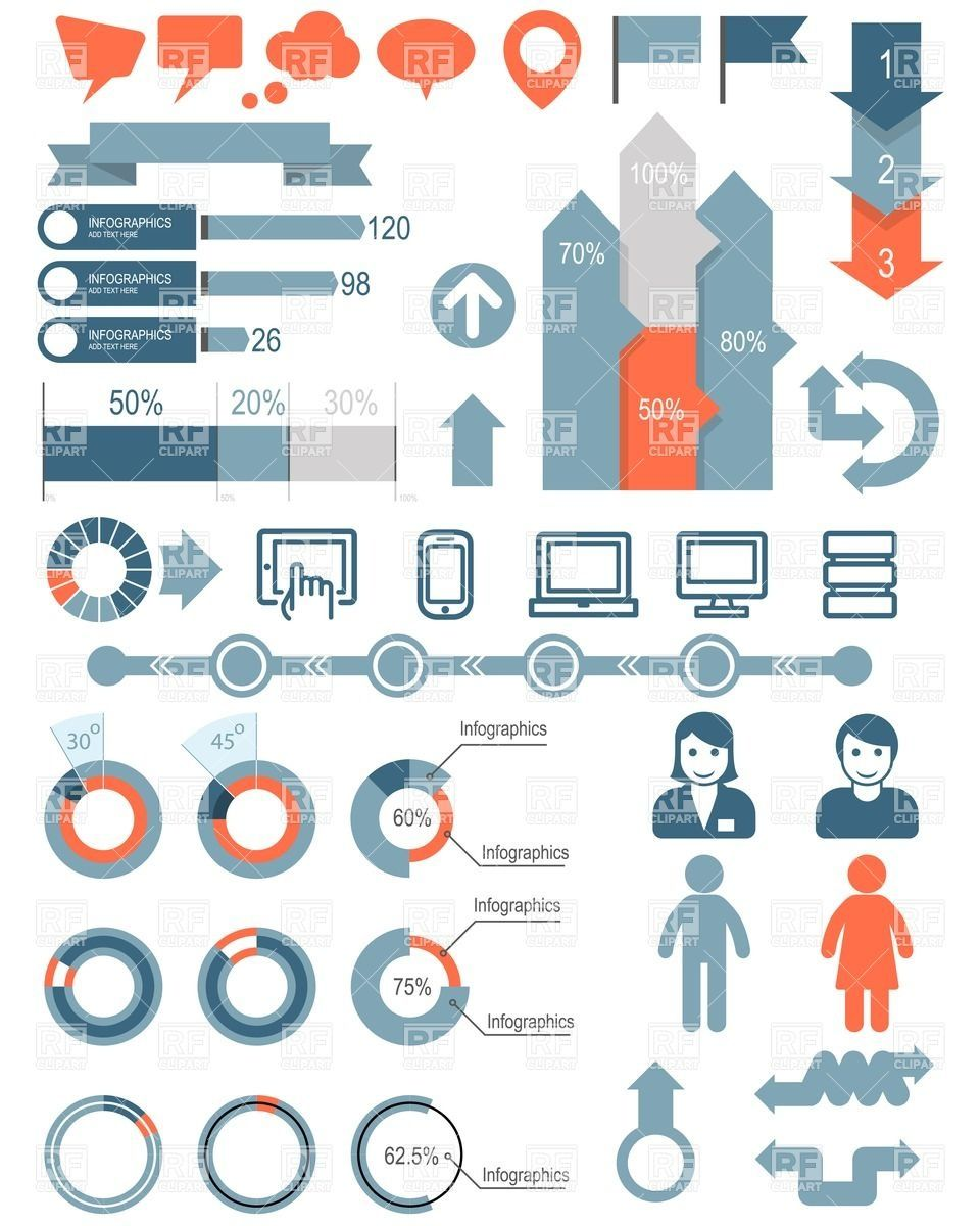 Inspiration infographic elements   Beautiful and creative ...