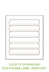 folder labels template