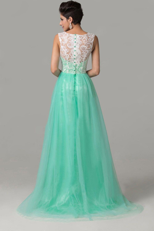 Cap sleeves mint green lace long prom dresses prom pinterest