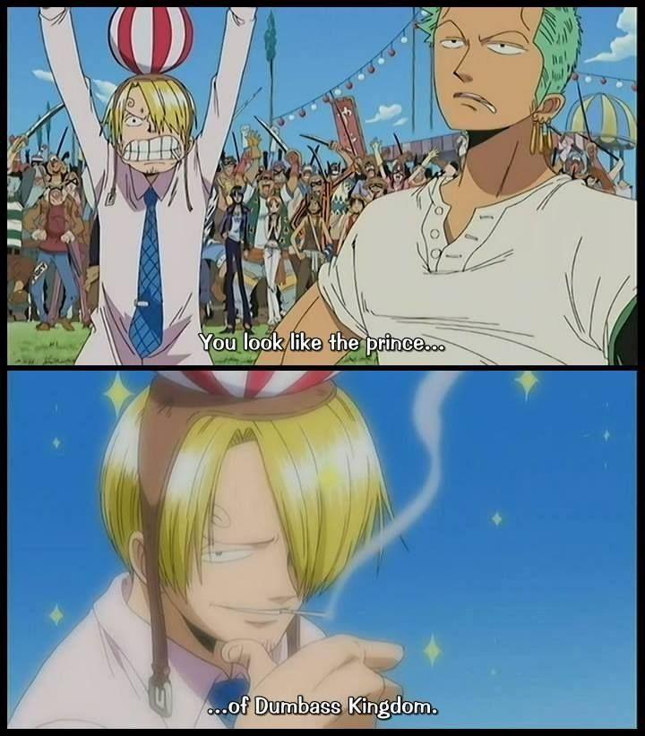 Prince Of Dumbass Kingdom Xd One Piece Funny One Piece Anime