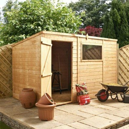 10ft x 6ft Shiplap Pent Wooden Storage Shed - Brand New 10x6 Tongue and Groove Sheds: Amazon.co.uk: Garden & Outdoors possibility