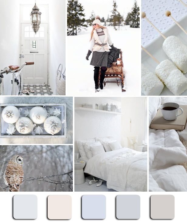 """Warm And Cozy Dining Room Moodboard: """"Winter Whites"""" Mood Board Monday Via @HGTV #White"""