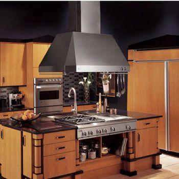 Ceiling Mount Range Hoods Ge Monogram Zvish Professional Taper Sided Island Range Hoods Kitchen Design Kitchen Remodel Kitchen Design Pictures