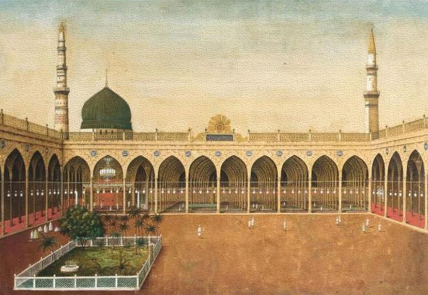 حرم المدينة المنورة تحت الحكم العثماني الحجاز The Holy Mosque Of Medinah Under The Ottoman Empire Hejaz Medina Mosque History Of Islam Islamic Pictures