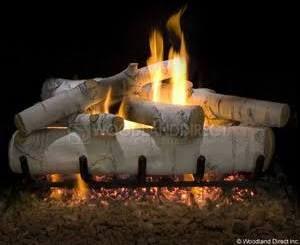 Ceramic Log Set For Gas Fireplace Birch 18 Quot Fireplace