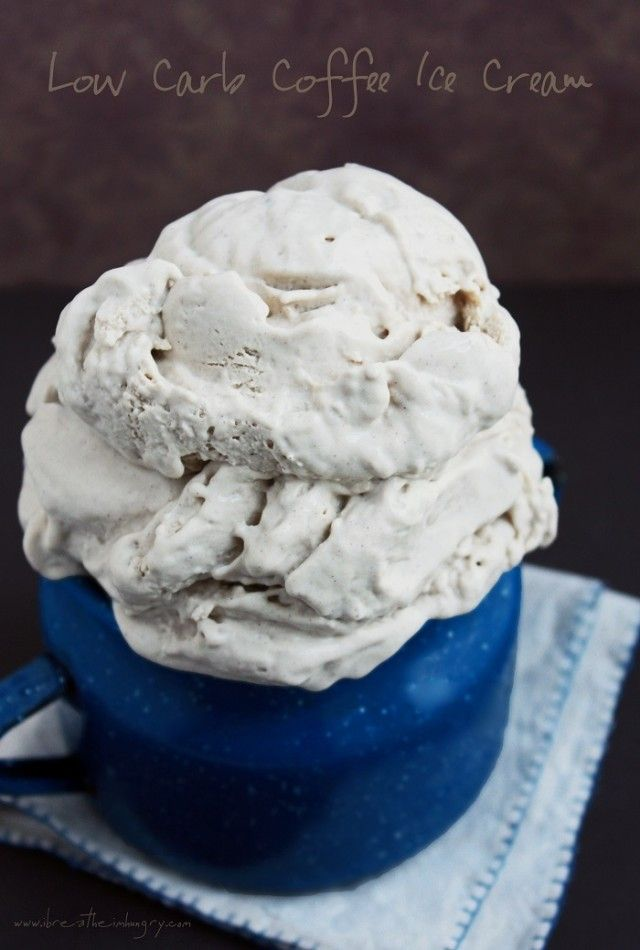 Low carb sugar free coffee ice cream recipe from I Breathe..I'm Hungry