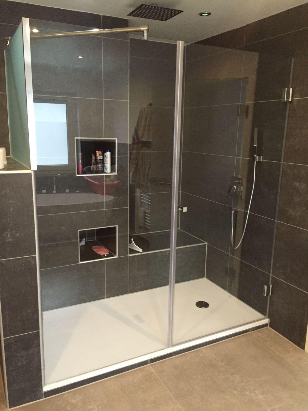 Tempered Duschkabinen duschkabine 1800x90 cm in 8 mm esg klarglas in der front seitenglas