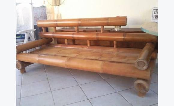 Canape Gros Bambou Meubles Et Decoration Guadeloupe Mobilier De Salon Bambou Decoration