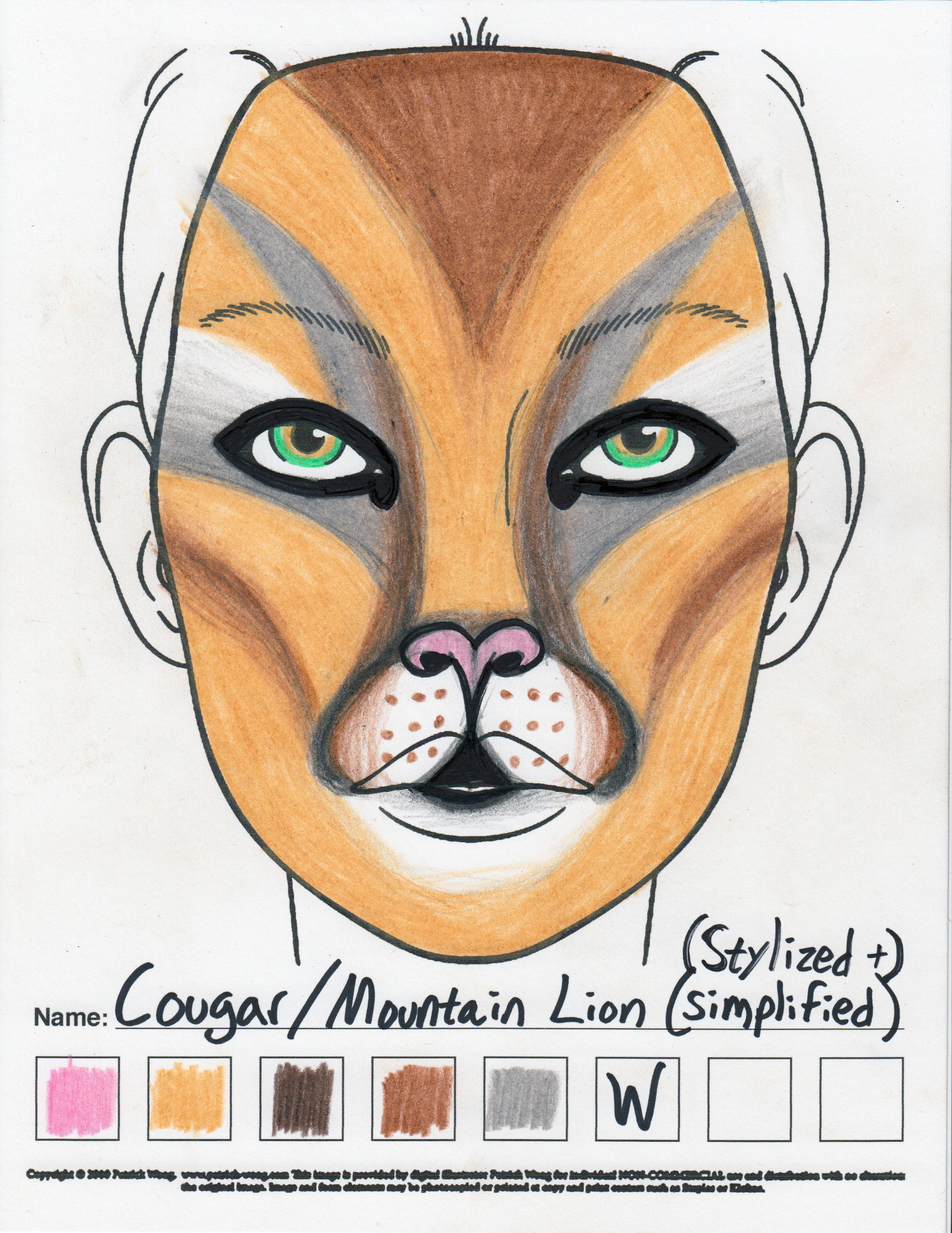 Cougar Halloween Makeup.Pin On Alyza Girl