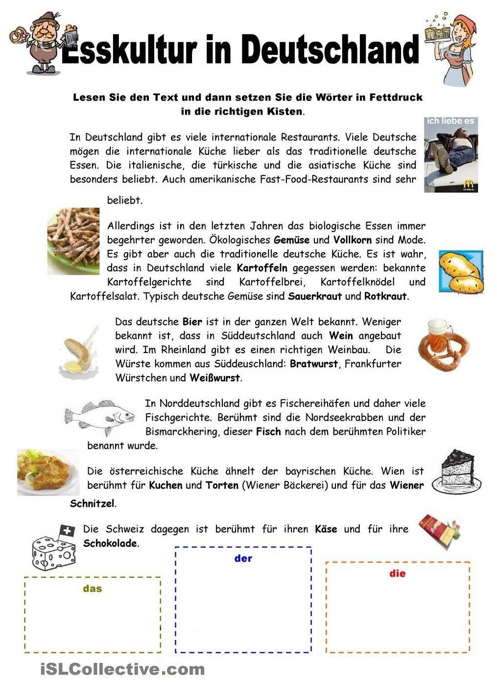 Esskultur in Deutschland | Deutsch lernen (German, allemand, Duits ...