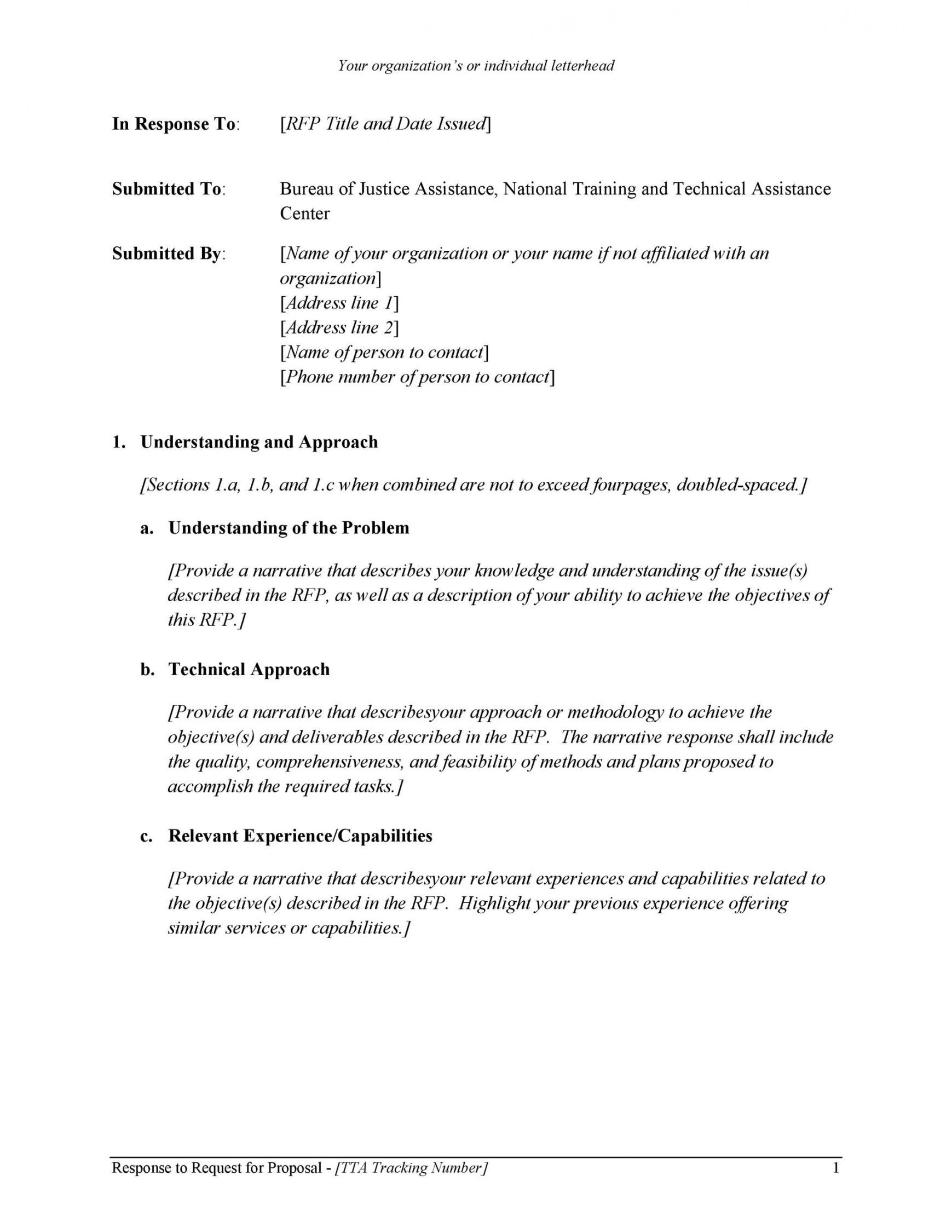 Request For Bid Proposal Template In 2021 Proposal Templates Request For Proposal Business Proposal Template