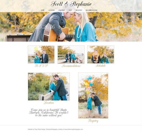 Wedding Website Design By Posy Prints Design - Custom Template with ...