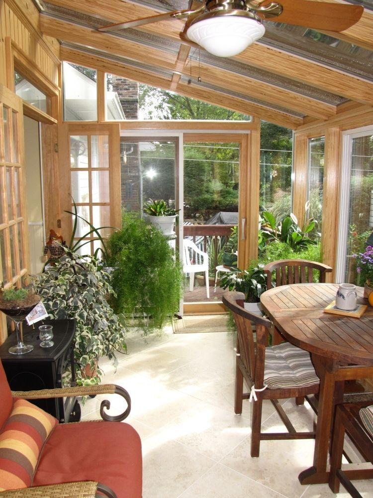 Genial Wintergarten Holz Selber Bauen Tipps Pflanzen  Gartenmoebel Essecke Tisch Verglasung