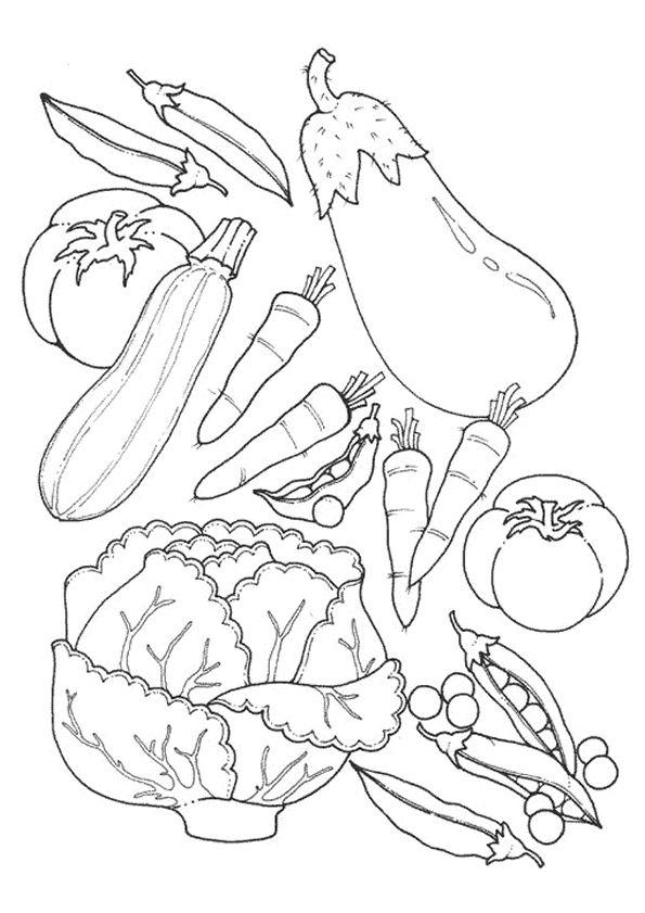 groente kleurplaat groente kleurplaat health and food
