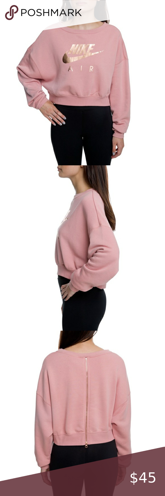 Predownload: Nike Air Rally Crew Neck Sweater Rose Gold Small Title Brand Stylename Type Color Size Small Excellent Us Crew Neck Sweater Sweaters For Women Clothes Design [ 1740 x 580 Pixel ]