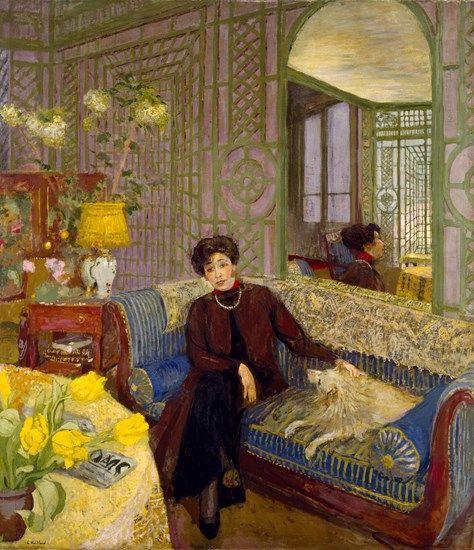 Marcelle Aron (Madame Tristan Bernard) - Edouard Vuillard , 1914 French, 1868-1940 Distemper on canvas , 71 3/8 × 61 5/8 in. (181.3 × 156.5 cm)