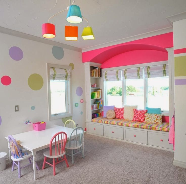 Colorful Kids Room Design: Decor: Contact Paper Dots/Stripes In Bright Colors