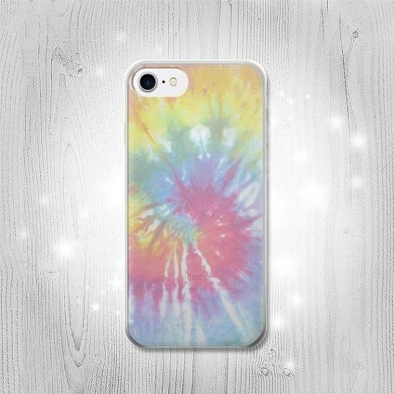 Tie Dye Colorful Graphic Printed Transparent Clear by Lantadesign