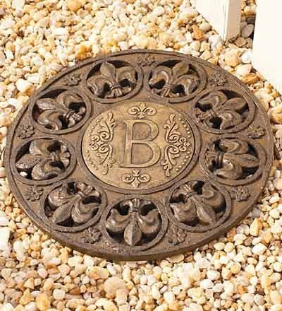 Monogram Stepping Stone B. I Want This To Put In My Front Yard Garden.