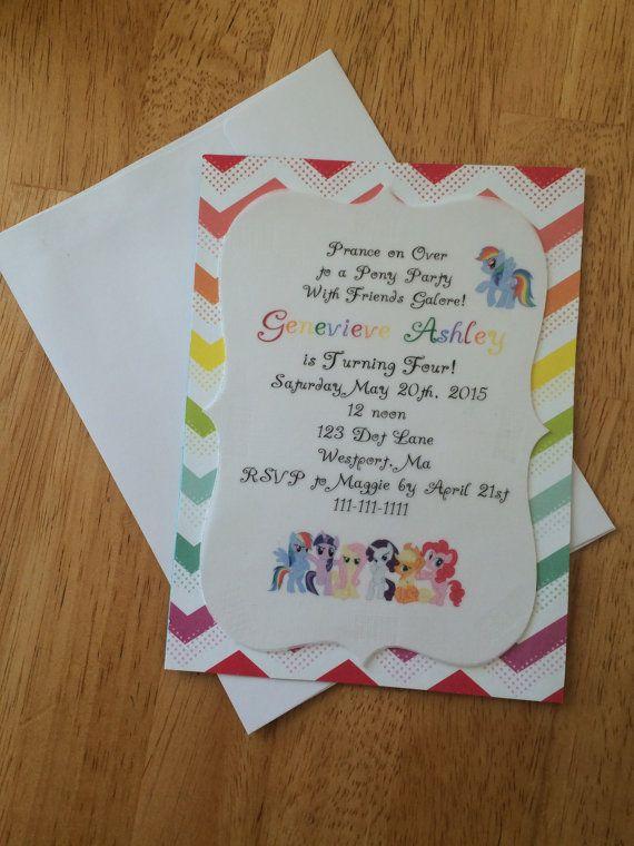 Mi Pequeño Pony Cumpleaños Invitación Invitaciones De Mi