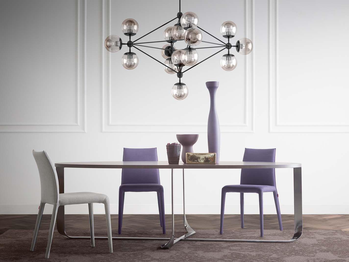 Tavolo Fenix ~ Confluence table designed by xavier lust emi slim chair