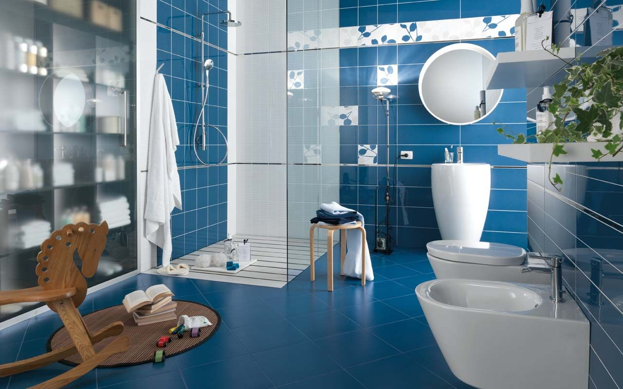 Iris Ceramica Rays Collection Blue Porcelain Tile Contemporary and ...