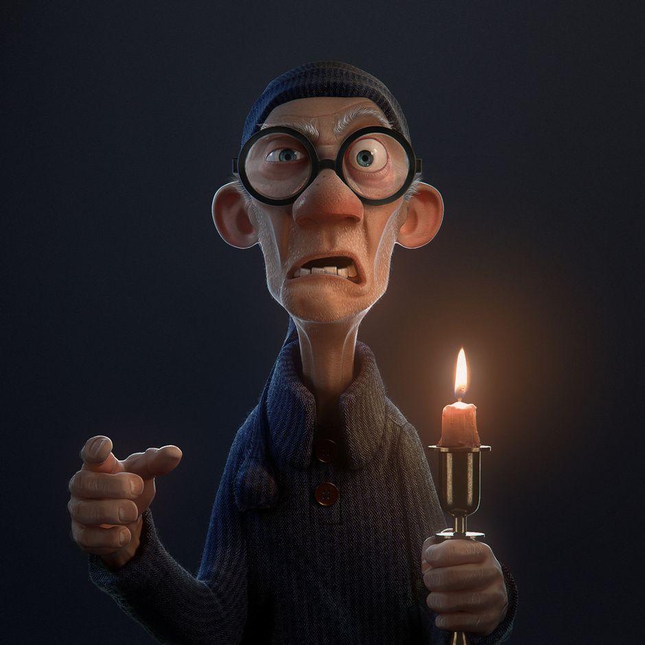 Old Man By Felipe Dreher Hansen Cartoon 3d Cgsociety Old