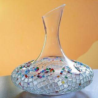 Decoración con venecitas de vidrio