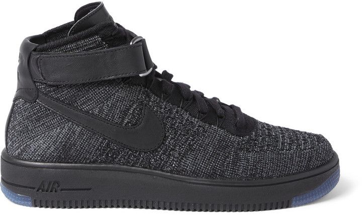 new product 76b5d d50c4 Nike Air Force 1 Flyknit Mesh High-Top Sneakers