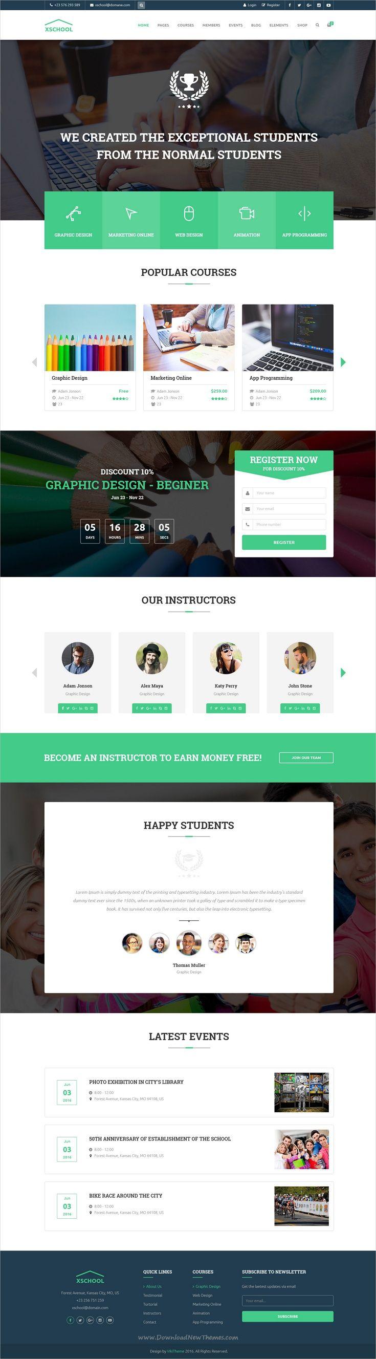 Xshool School Education Psd Template Corporate Website Design Web Design Quotes Web Design