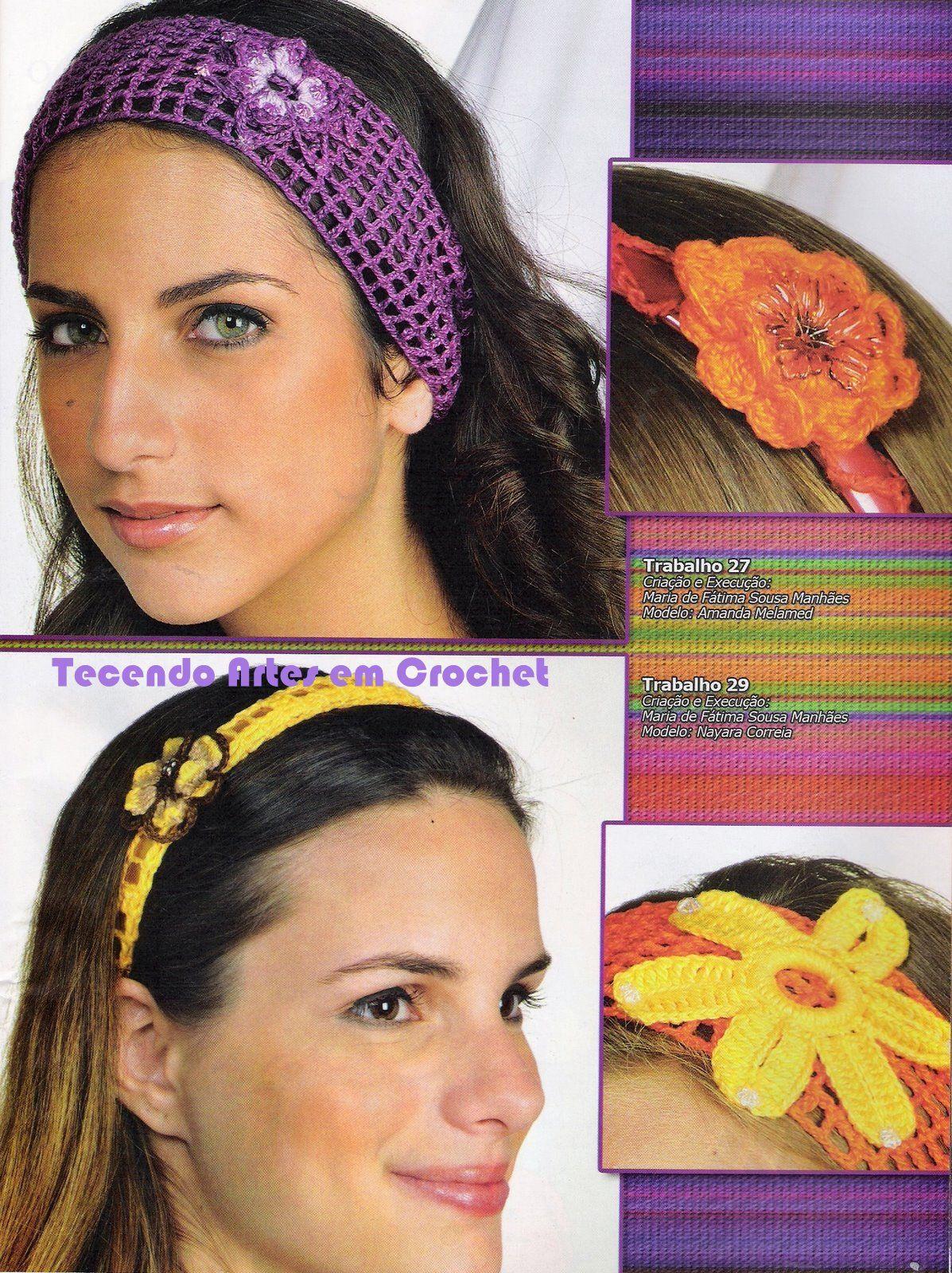 Artesanato diversão e prazer: Lenços, tiaras, headband , tic tac e ...