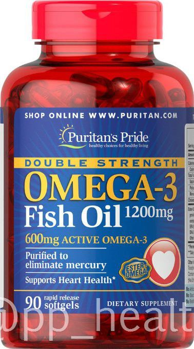 Puritan S Pride Double Strength Omega 3 Fish Oil 1200 Mg Contain